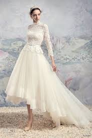 high low wedding dress with sleeves 318 best bridal gown high low images on bridal gowns