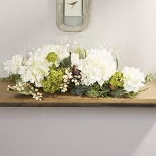 hydrangea centerpiece darby home co hydrangea centerpiece in candelabrum reviews wayfair