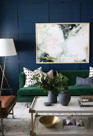 studio mcgee formal sitting room love the dark wall velvet sofa