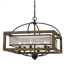 Square Chandelier Cal Lighting Square Chandelier In Bronze Walmart