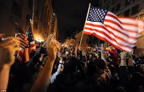 osama bin laden dead pictures of usa celebrating of al