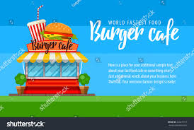fast food burger cafe shop store stock vector 444275155 shutterstock