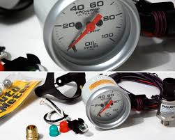 mini cooper autometer ultra lite electrical oil pressure gauge