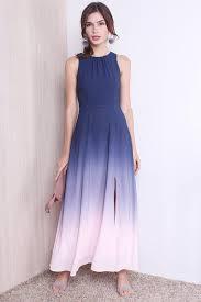 ombre maxi dress restocked gabriella ombre maxi dress in navy pink xs s m l xl