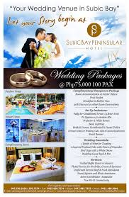 Wedding Packages Subic Bay Peninsular Subic Bay U0027s Premier Hotel Wedding Package