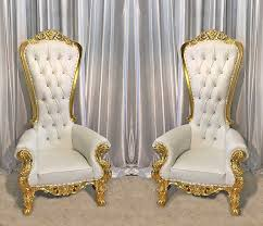 throne chair rental out of stock two throne chair package w gold trim