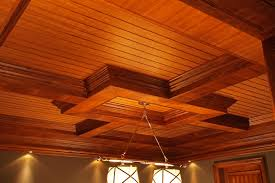 pool room coffered ceiling