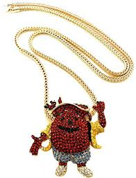 necklace man images Gwood kool aid necklace man pendant with gold color 36 inch franco jpg