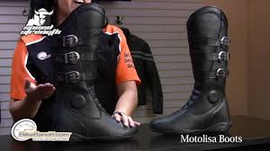 women s cruiser motorcycle boots speed and strength women u0027s motolisa leather boots at bikebandit