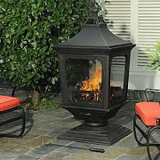 Chiminea On Wood Deck Outdoor Fireplaces Chimeneas Kmart