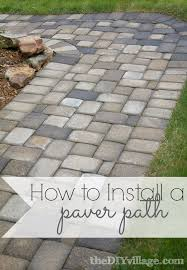 How To Cut Patio Pavers Without A Saw Paver Path Hard Work But Worth Every Sore Muscle The Diy Village