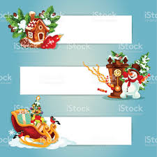 christmas and new year banner with gift xmas tree stock vector art
