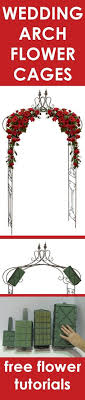 wedding arches supplies wedding arch flowers foam cages for arch flowers free tutorials