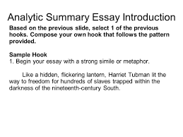 sample summary essay writing portfolio with mr butner ppt video online download analytic summary essay introduction