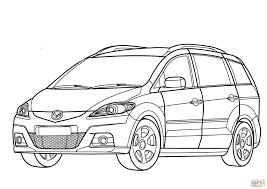 mazda 5 coloring page free printable coloring pages