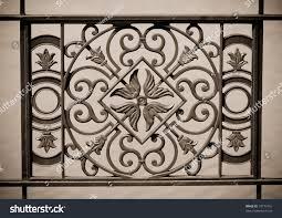 ornamental railings bridge wrought iron stock photo 78777451