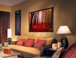 2018 red forest landscape ground canvas painting home decor canvas