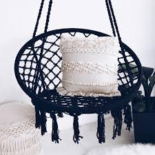 macrame hammock chair swing black ivory u0026 deene u2013 ivory