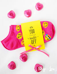 valentines for printable valentines for socks a way to gift socks