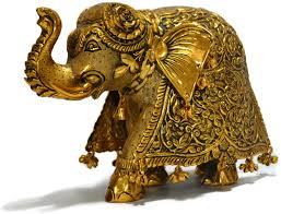 gold plated elephant figurine statue sculpture sale craftvatika