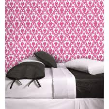 Black And White And Pink Bedroom Interior Design Modern Bedroom Decoration With Luxury Tempaper