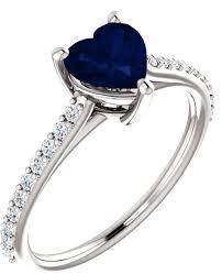 heart sapphire rings images Velvet blue heart shaped sapphire and 1 5 carat diamond ring jpg