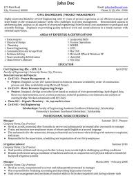 Resume Summary Statement Samples by Civil Engineering Project Management Resume Summary Statements