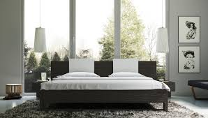 Oak Platform Bed Marilyn Gray Oak Modern Platform Bed With Nightstands