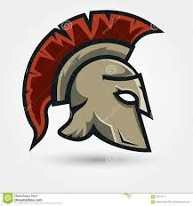 spartan warrior helmet stock vector image 63574791