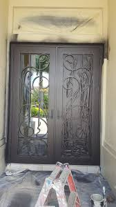 Paint A Front Door Painting A Large Iron Front Door Ronspainting