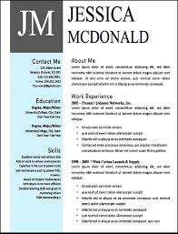 Word Resumes Templates Modern Resume Template Word Modern Microsoft Word Resume Template