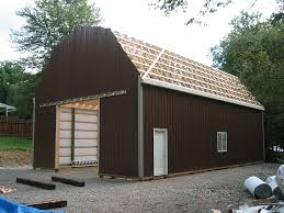 Truss Spacing Pole Barn Pole Barn With Gambrel Roof Truss Apm Buildings