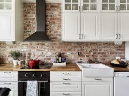 brick backsplashes for kitchens i like the brick and the counter tops but qould chamge the range