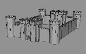 how to draw a castle with a moat step by step for beginners