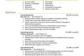 Hospitality Sample Resume by Housekeeping Cleaning Resume Sample Reentrycorps