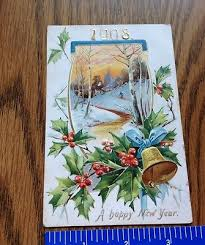 new year post cards 1908 happy new year post card vintage by raphael tuck sons