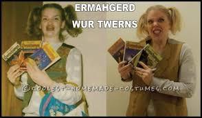 Internet Meme Costume Ideas - funny last minute ermahgerd girl internet meme halloween costume