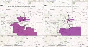 Colorado State Map by Colorado State Senate Districts With Less Than 10 Party