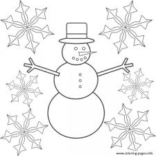 snowman snowflake sd15d coloring pages printable