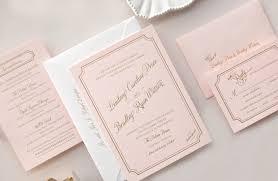 pink wedding invitations pink and gold wedding invitations wedding corners