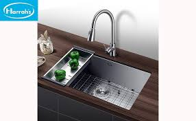 Kitchen Faucets Made In Usa Amazon Com Harrahs 32 Inch Commercial Undermount Single Bowl