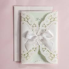 mint wedding invitations aliexpress buy mint wedding invitation lace wedding