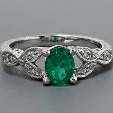 emerald antique rings images Art deco emerald engagement rings unique antique engagement ring jpg