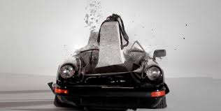 vintage porsche ad video vintage porsche 911 sc destroyed by concrete slab in