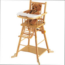chaise haute b b en bois chaise haute bébé bois