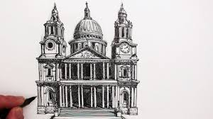 how to draw famous buildings st paul u0027s cathedral london youtube