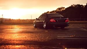 lexus sedan jdm photo lexus ls 430 stance jdm rear parking back view 2560x1440