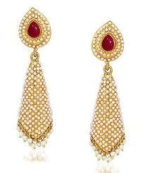 jhumki earring traditional gold plated jewellery pearl jhumka jhumki earrings