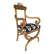 Arm Accent Chair Baker Quality Regency Neoclassical Scroll Arm Accent Chair Chairish