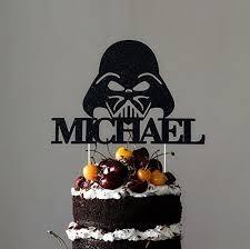 wars birthday cake darth vader cake topper custom wars cake topper